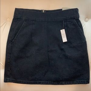 Brand new Topshop grey denim skirt with back zip